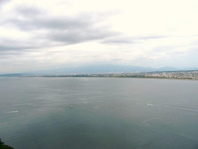 屋外展望台からの一面の海は壮快