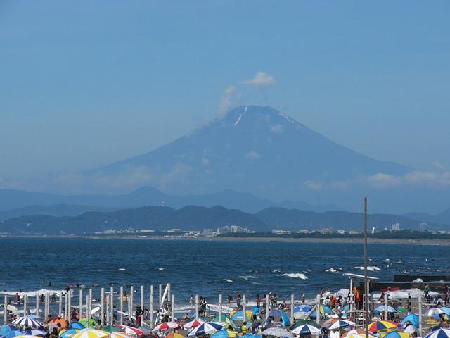 富士山がきれいにみえることも!