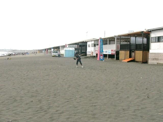 立ち並ぶ海の家