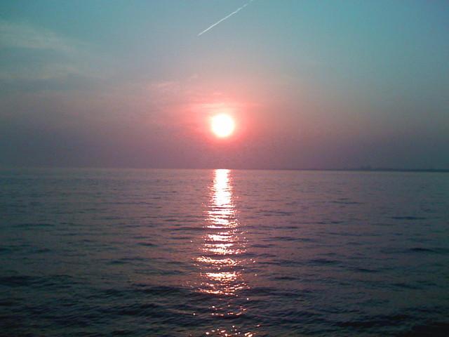 ここから見る夕日はきれい